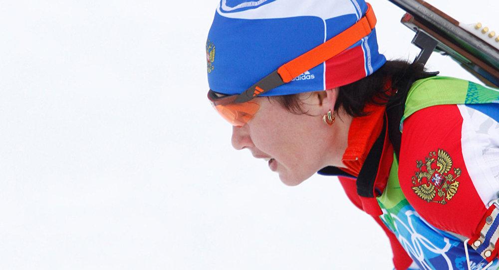 Биатлонистка Ольга Медведцева, архивное фото