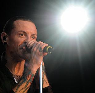 Участник группы Linkin Park Честер Беннингтон, архивное фото
