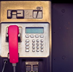 Телефон-автомат, архивное фото