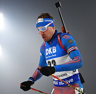 Российский биатлонист Антон Шипулин, архивное фото