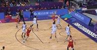 Данк в исполнении Тимофея Мозгова на чемпионате Европы-2017, видео