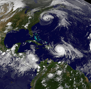 Фото урагана Мария из космоса