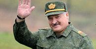 Александр Лукашенко посещает учения Запад-2017