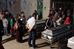 Церемония прощания с погибшими в результате землетрясения в Мексике