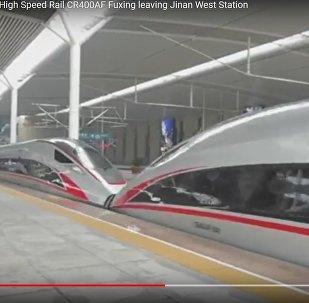 Как выглядят скоростные поезда, запущенные между Пекином и Шанхаем