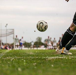 Подача углового в футболе, архивное фото