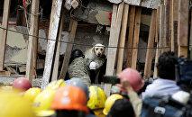 Последствия разрушительного землетрясения в Мексике