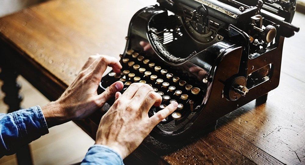 Печатная машинка, архивное фото