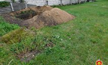 Место обнаружения останков в Могилеве
