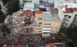 Последствия землетрясения в Мехико