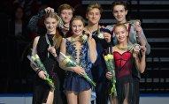 Победители в танцах на льду этапа Гран-при ИСУ по фигурному катанию