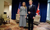 Встреча принца Гарри и Меланьи Трамп