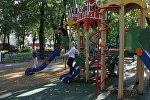 В Московском дворике с удовольствием играют дети разных возрастов