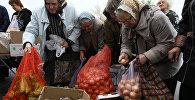 Торговля овощами на рынке