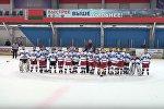 Юные хоккеисты исполнили гимн Беларуси на турнире в Пскове, видео