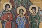 Репродукция иконы Святые мученицы Вера, Надежда, Любовь и матерь их София