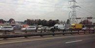 Движение на МКАД затруднено из-за аварии