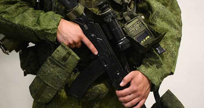 Российский военнослужащий, архивное фото