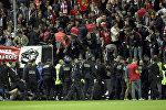 На матче чемпионата французской Ligue-1 пострадали болельщики