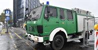 Полицейский автомобиль на Insbruker Platz