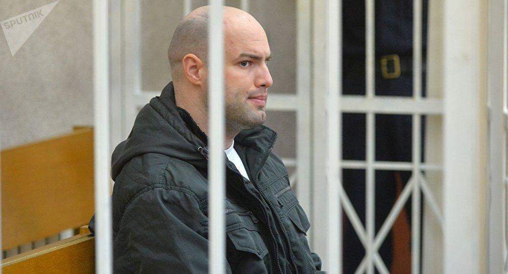 Обвиняемый в убийстве Татьяны Курсевич Евгений Раздуев в зале суда