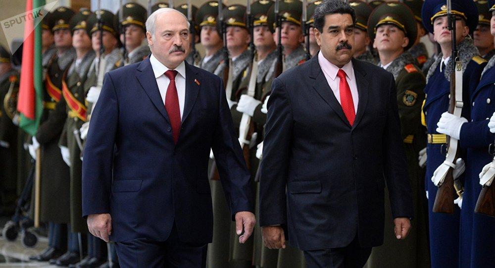 Президент Венесуэлы Николас Мадуро прибыл во Дворец Независимости в Минске на встречу президентом Александром Лукашенко