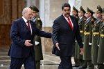 Александр Лукашенко встречает в Минске своего венесуэльского коллегу Николаса Мадуро