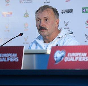 Главный тренер сборной Беларуси по футболу Игорь Криушенко