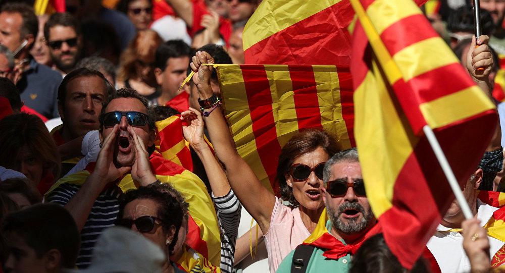Митинг в Барселоне архивное