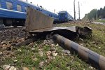 Поезд сбил грузовик, перевозивший свеклу под Барановичами