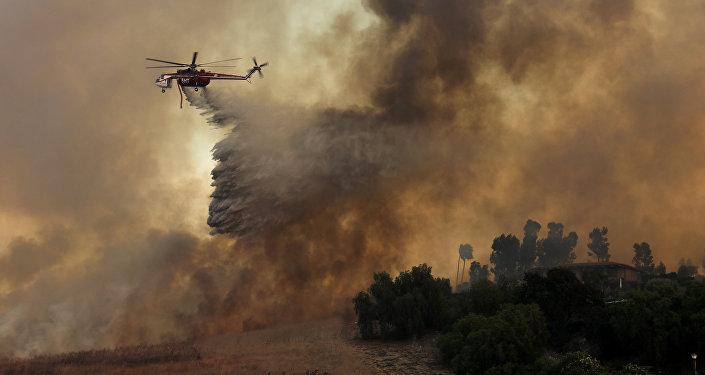 ВПортугалии засняли «дьявольское» огненное торнадо: размещено  впечатляющее видео