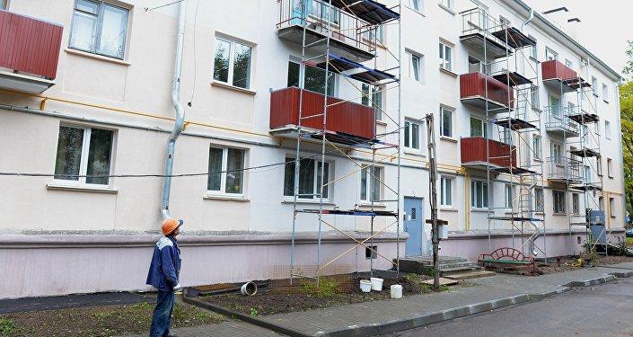 Дом, в котором проводится капитальный ремонт