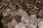 Десятирублевые монеты, архивное фото
