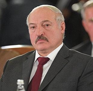 Президент Белоруссии Александр Лукашенко принимает участие в заседании Совета глав государств СНГ