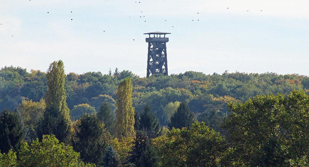 Башня Гетё во Франкфурте-на-Майне, архивное фото