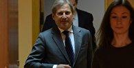 Комиссар по европейской политике соседства и переговорам о расширении ЕС Йоханнес Хан в Минске