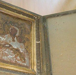 Ікона, якую знайшлі мытнікі ў Бераставіцы