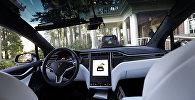 Интерьер автомобиля Tesla Model X 75D