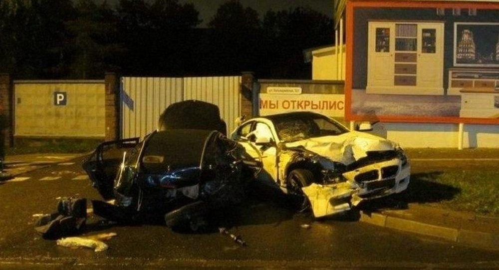 ДТП с участием белого BMW в Минске