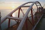 Операция по установке автодорожной арки Крымского моста