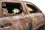 Сгоревший автомобиль, архивное фото