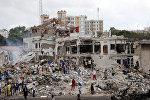Место теракта в Могадишо