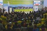 Встреча Лаврова с будущими дипломатами на XIX Всемирном фестивале молодежи