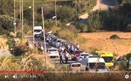 Видео с места гибели журналистки Дафны Каруаны Галиции, писавшей о Панамском досье мальтийских политиков