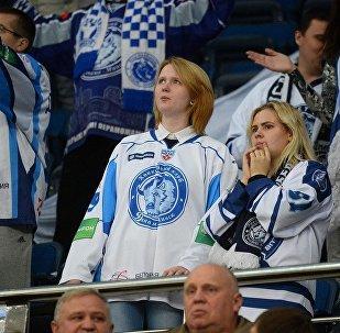 Болельщики хоккейного клуба Динамо-Минск, архивное фото