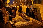 Палаточный городок у стен Верховной рады в Украине