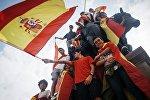 Акция в поддержку единства Испании в Барселоне, архивное фото