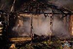 Сгоревший сарай в агрогородке Заелица