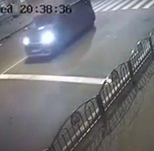 Жуткая авария в Харькове 18.10.2017 попала на видео (18+)