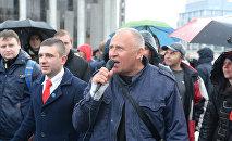 Марш возглавляет Николай Статкевич